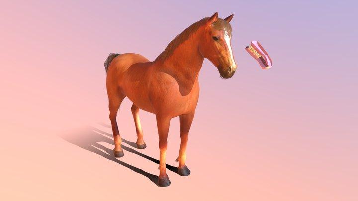 Golden Horse 3D Model