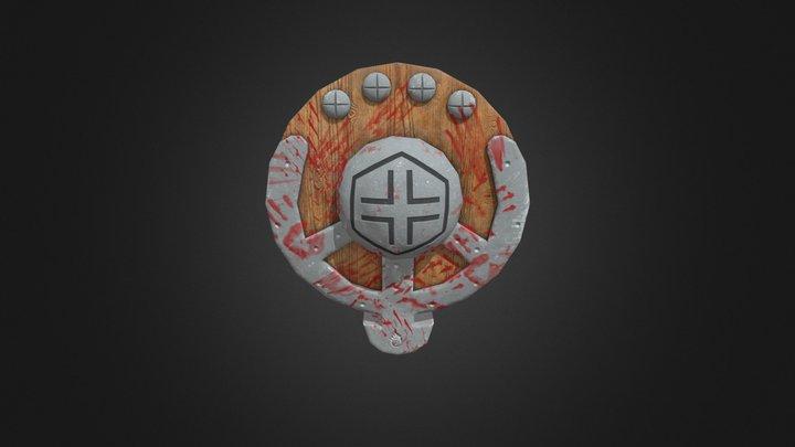 Blood Shield - Escudo sujo de sangue 3D Model