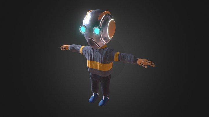 Kid Droid 3D Model