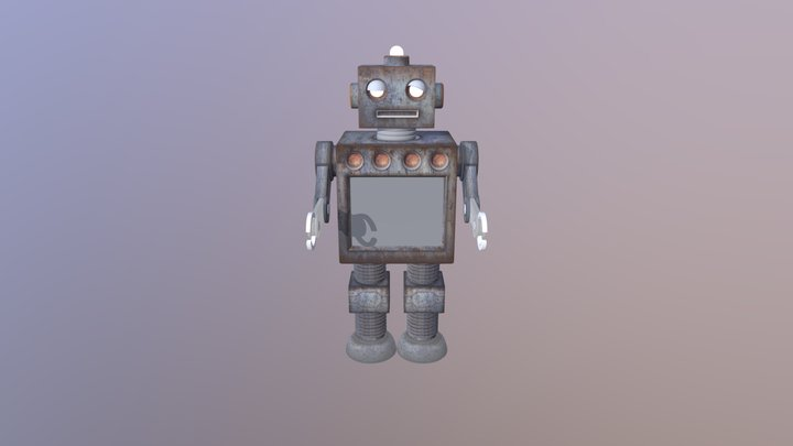 Clanky Old Robot 3D Model