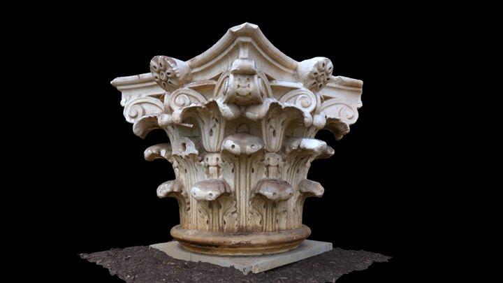 UVA Rotunda Column Capital #1 3D Model