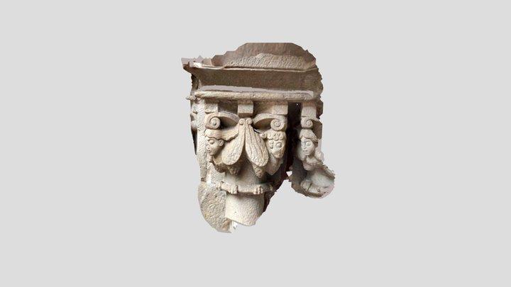Medieval capital in Barcelona 3D Model