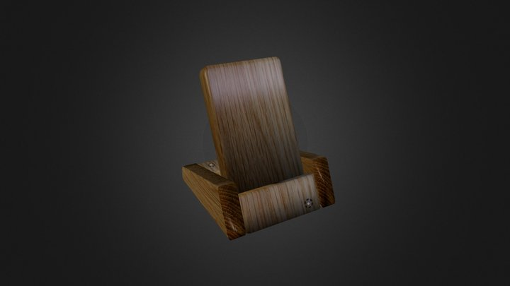 Wooden iPhone stand Apple-Tre3 3D Model