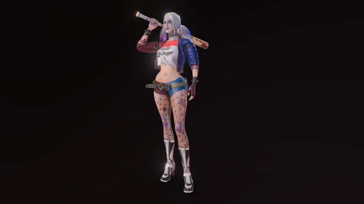 Harley Quinn my vision. Game character 3D Model