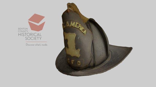 Helmet, Corvallis Fire Dept., c.1872-1899 3D Model