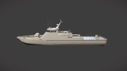 45 Meter Fast Missile Boat 3D Model
