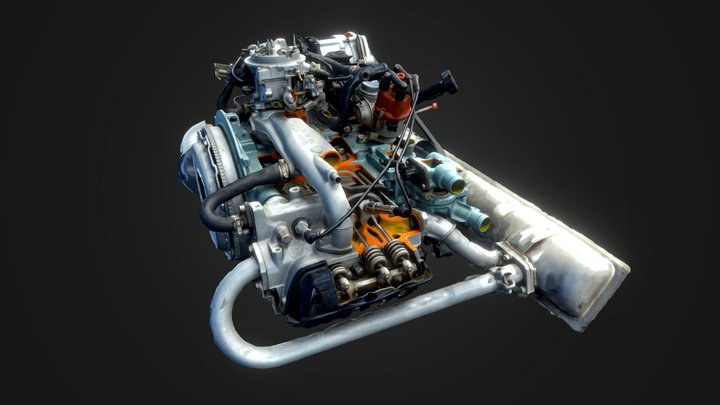 Car Engine | 01 3D Model
