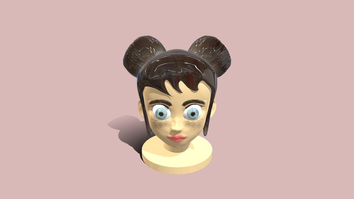 Girl with blue eyes 3D Model