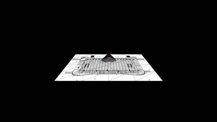 Piazza_Wireframe 3D Model