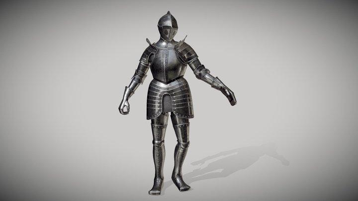 Renaissance Plate Armour [Posed] 3D Model