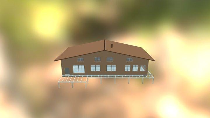Дом2 после расчета швеллеры 10 3D Model