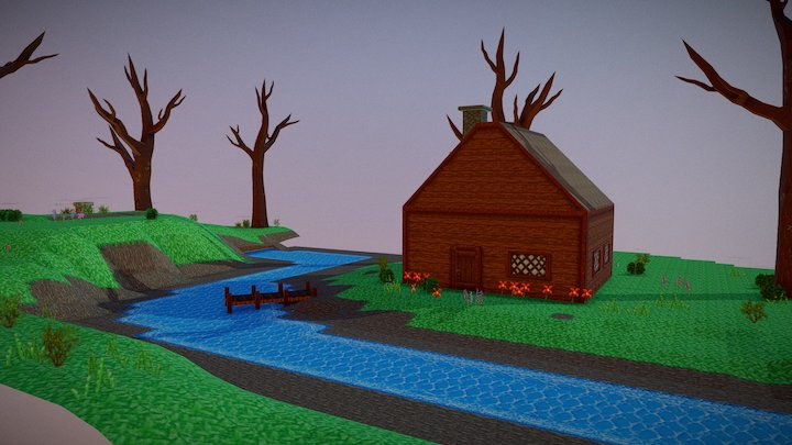 Forest Cabin 3D Model