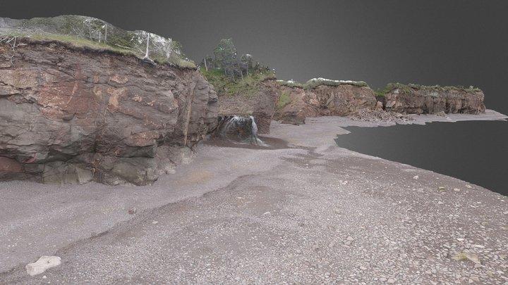North Mountain Basalt - Margaretsville, NS 3D Model