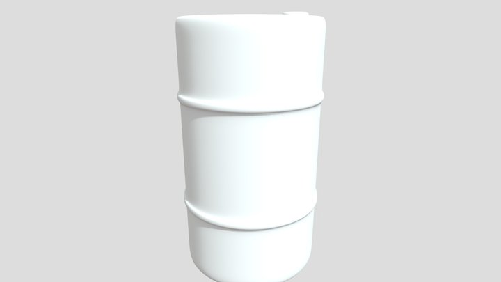 Barrel untextured model 3D Model