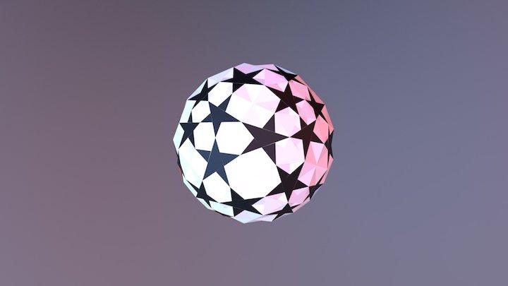 UEFA Champions League Football 3D Model