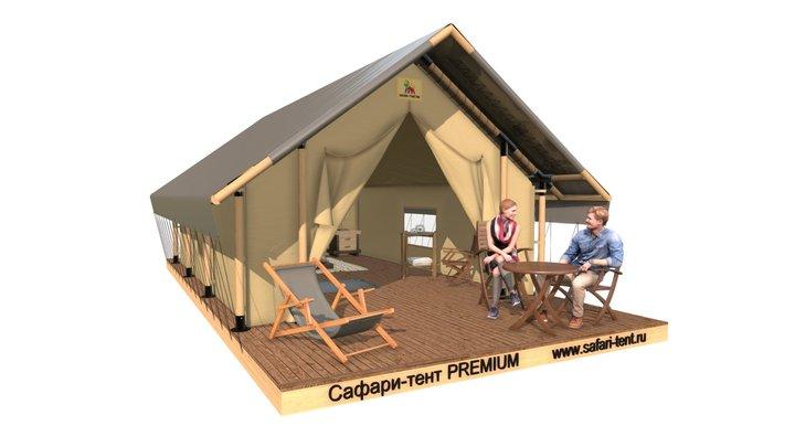 Палатка для глэмпинга, сафари-тент PREMIUM 3D Model