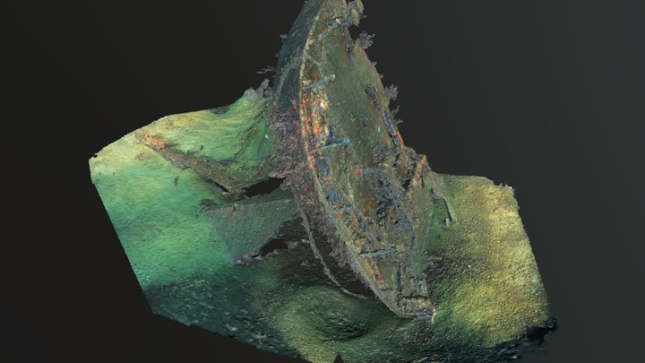 The Liban wreck. Stern survey, Marseille. 3D Model