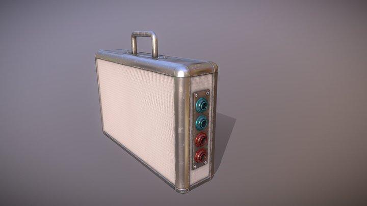Metallic suitcase concept 3D Model