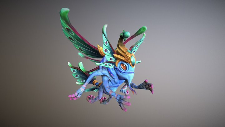 Dota 2 Workshop: Ethereal Monarch 3D Model