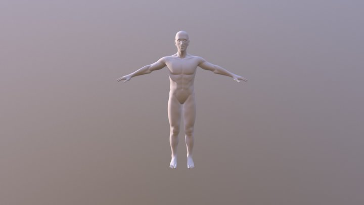 Human Relaxed Pose 3D Model