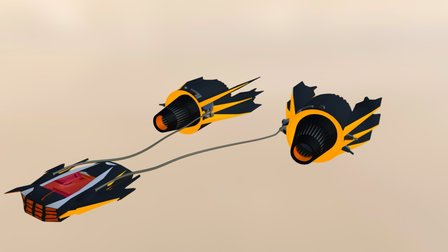 Pod Racer - Duablo 3D Model
