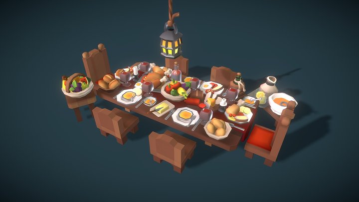Food Set - Proto Series 3D Model