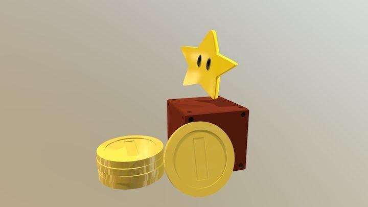Mario Items 3D Model