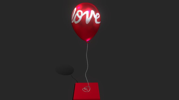 Love Balloon 3D Model
