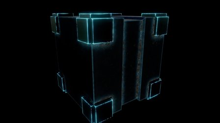 Sci Fi Cube 3D Model