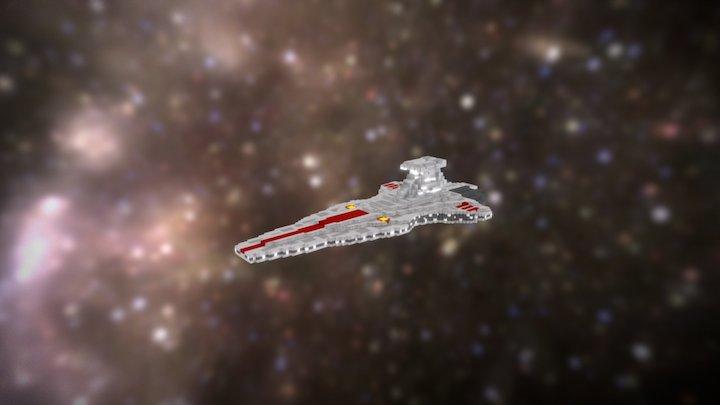 Star Wars - Venator-Class Destroyer (voxel) 3D Model