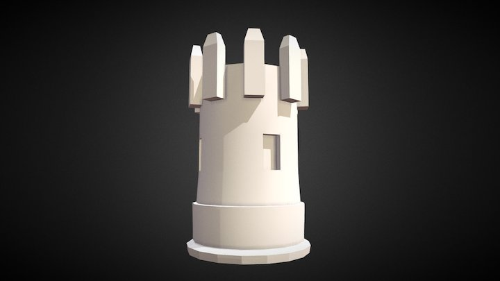 Tower(Low Poly) 3D Model