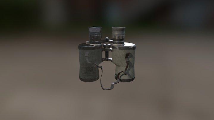 Binoculars Textured 3D Model