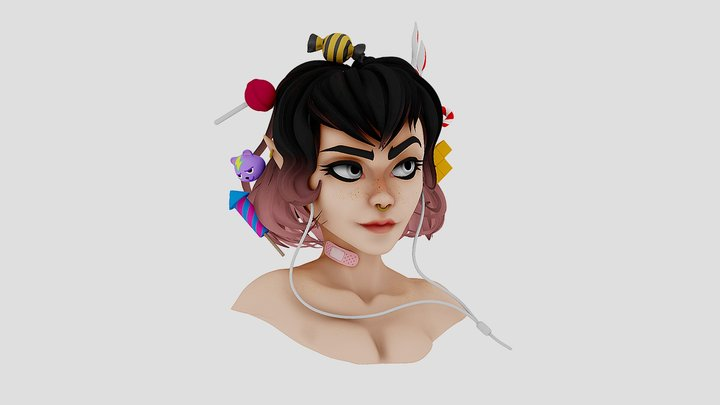 Airpods Girl 3D Model
