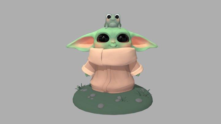 Baby Yoda 3D Model