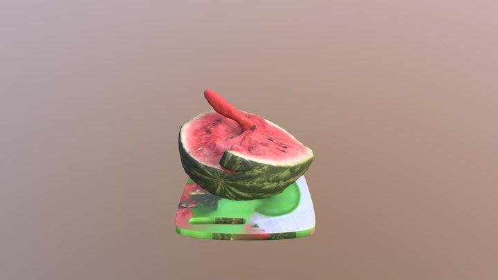 Water Melon 3D 3D Model