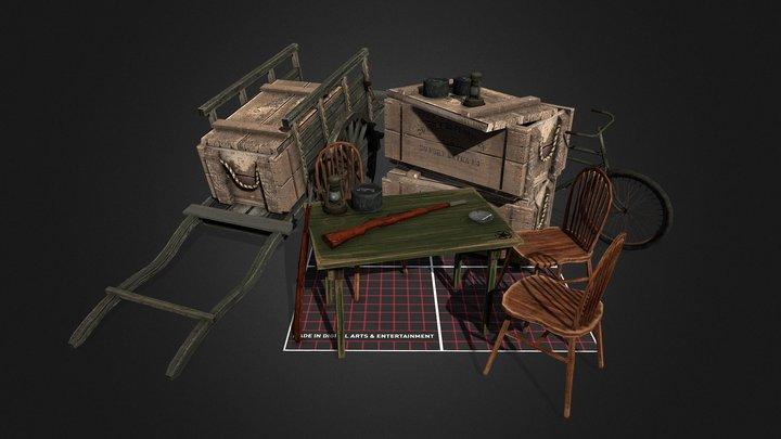Scene 5 Props - WW2 Carentan inspired 3D Model