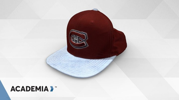Sports Cap scanned with ACADEMIA 50 3D Model