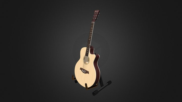 Acoustic guitar Caraya 3D Model