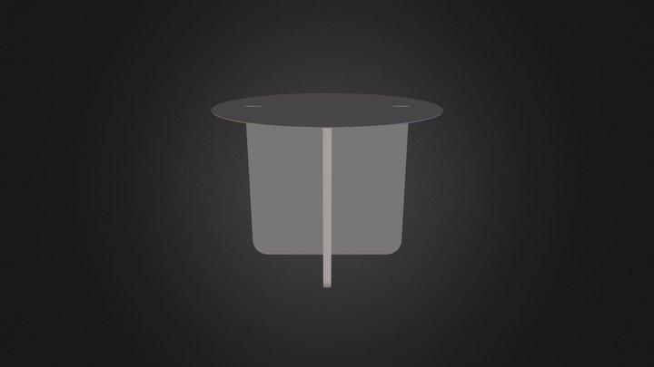 VERSO rond gris télé 3D Model
