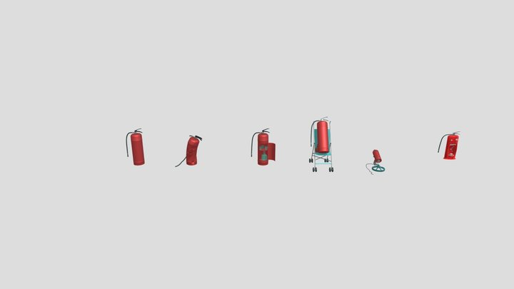 5 Drafts For One Object 3D Model