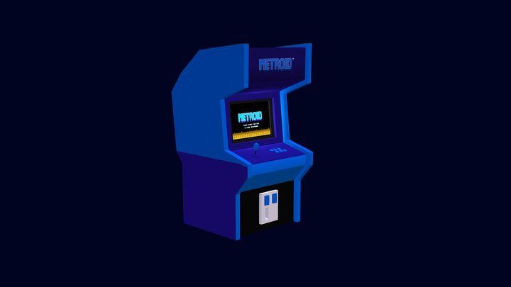 Arcade Metroid Lowpoly - Animated 3D Model