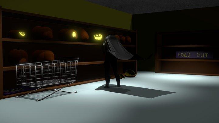 Hallowen shop 3D Model