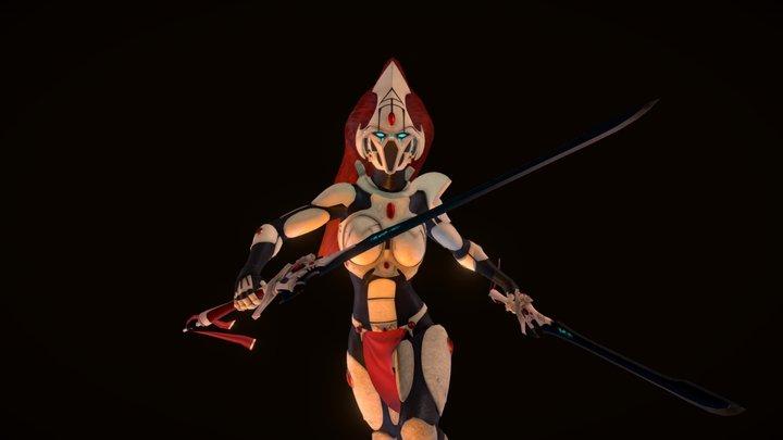 Eldar Howling Banshee [PBR] 3D Model