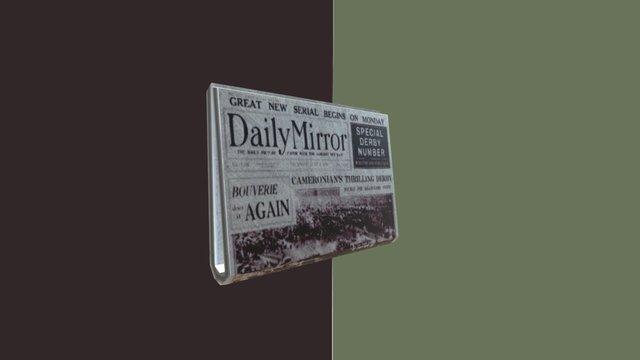 Daily Mirror-1930 Newspaper 3D Model