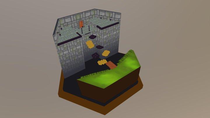 7. Puzzled Platforms 3D Model