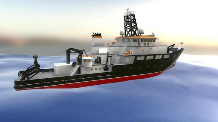 RCRV - Regional Class Research Vessel 3D Model