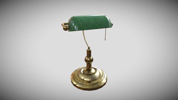 Victorian Desk Lamp 3D Model