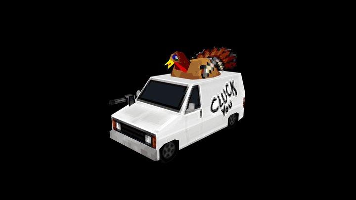 """CARnage - """"Deep Fried"""" 3D Model"""