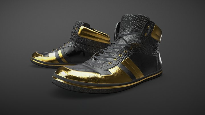 Rockstar Shoes 3D Model
