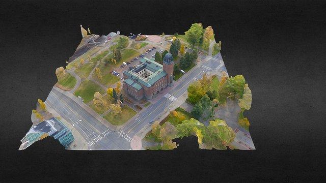Joensuu city hall 3D Model